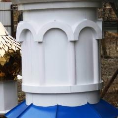 цилиндрический с полуколоннами и арками