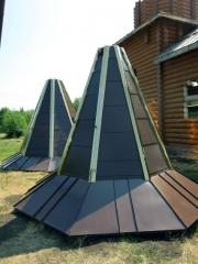 восьмигранный, из оцинкованной стали с полимерным покрытием в «лежачий фальц»
